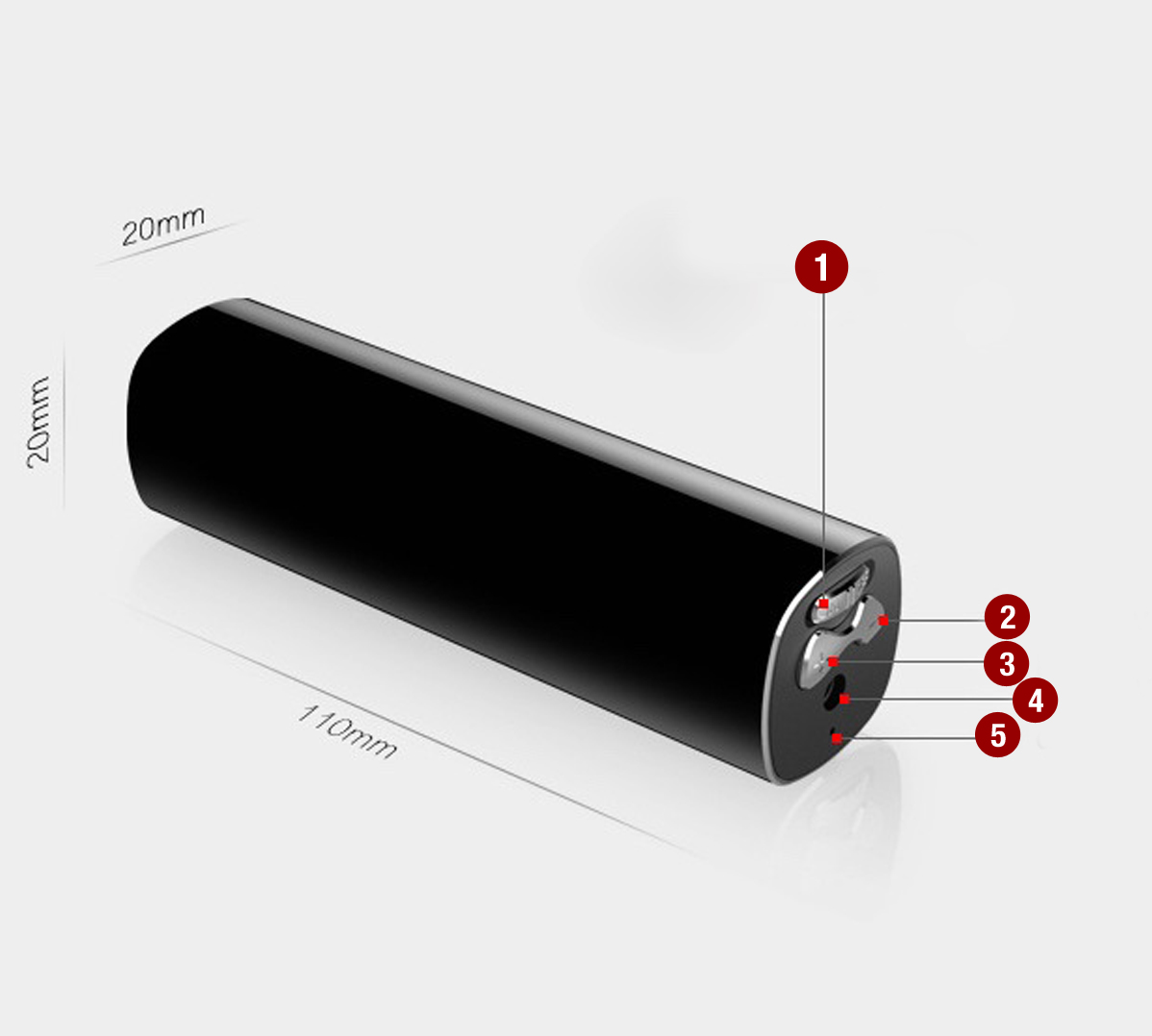 DYKTAFON CYFROWY 16GB VOX DETEKCJA RED.SZUMU 21DNI Aktywacja nagrywania głosem tak