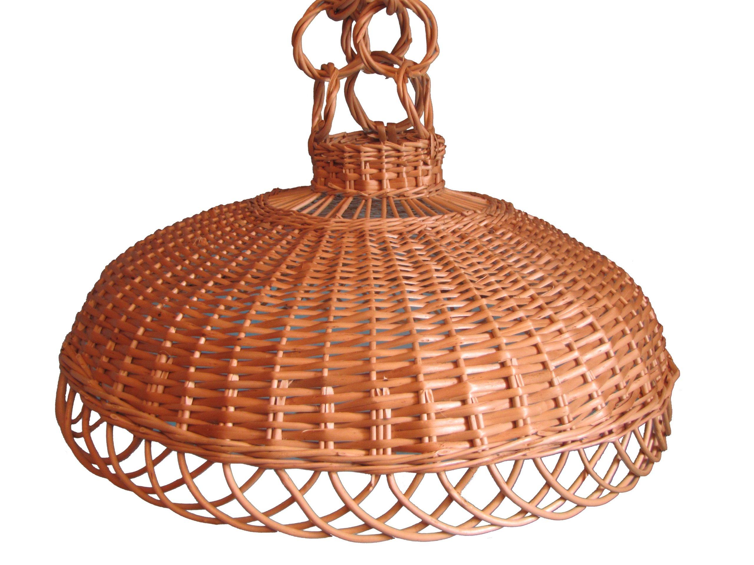 Плетеный абажур Плетеная люстра лампа FI 43см