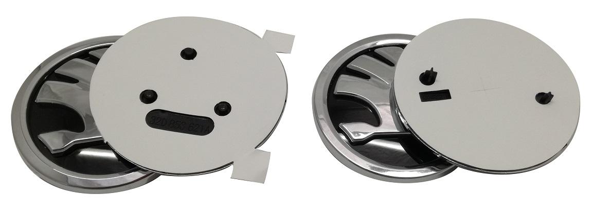 Логотип Skoda 79мм и 88мм для 2 предметов