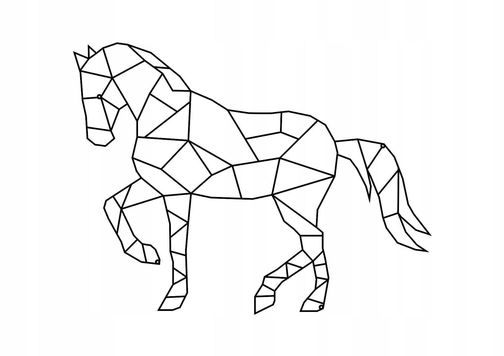 Сложные рисунки животных из геометрических фигур