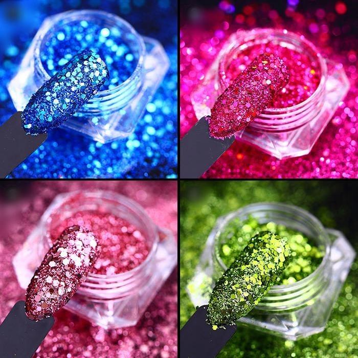 Купить Пыльца 3D эффект БЛЕСК для ногтей - ИЗУМРУД - 1g на Otpravka - цены и фото - доставка из Польши и стран Европы в Украину.