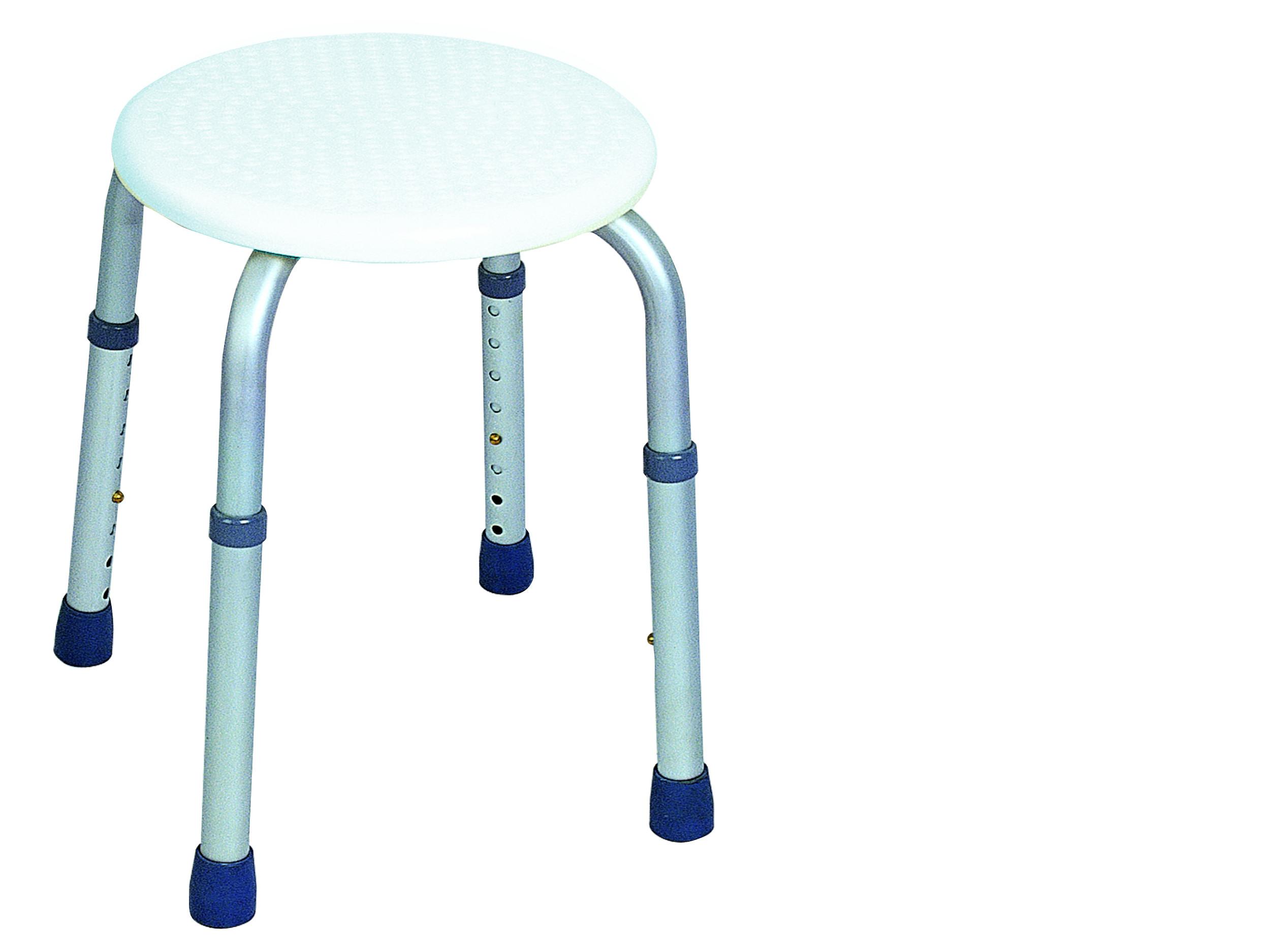 Vaňová taburetka okrúhla sprchová stolička biela