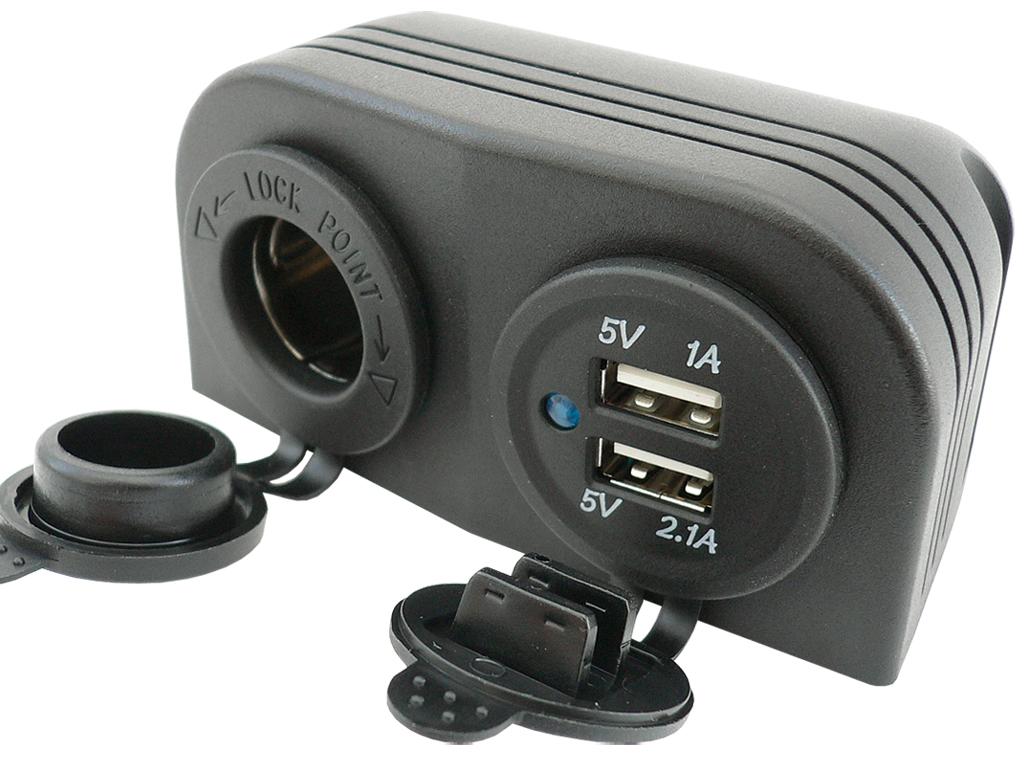 Зарядное устройство usb 5v 3 1a гнездо герметичные 12v 24v