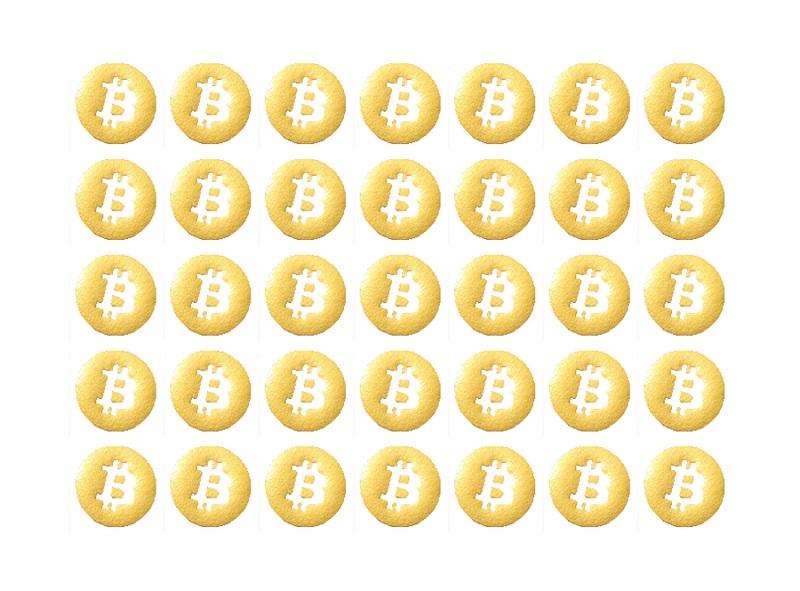 Złote naklejki z LOGO BITCOIN BTC zestaw naklejek