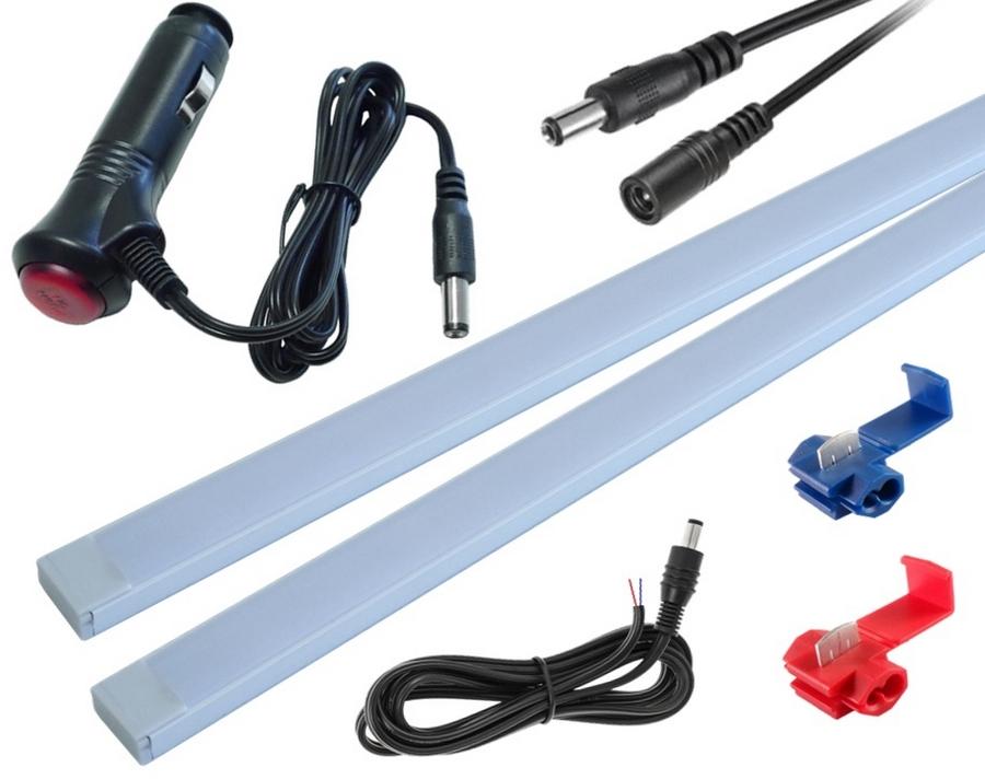 освещение led автомобиля 2x30cm алюминиевые smd5630 hq