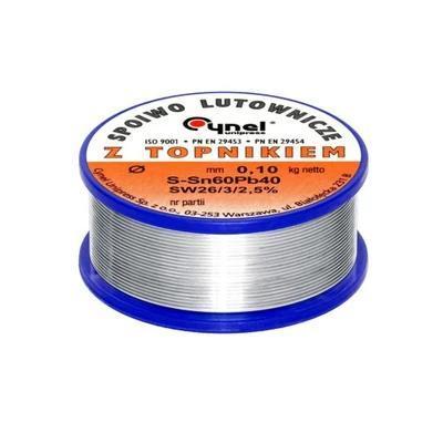 CYNA Z TOPNIKIEM 1,0 mm 0,1kg CYNEL TINOL drut