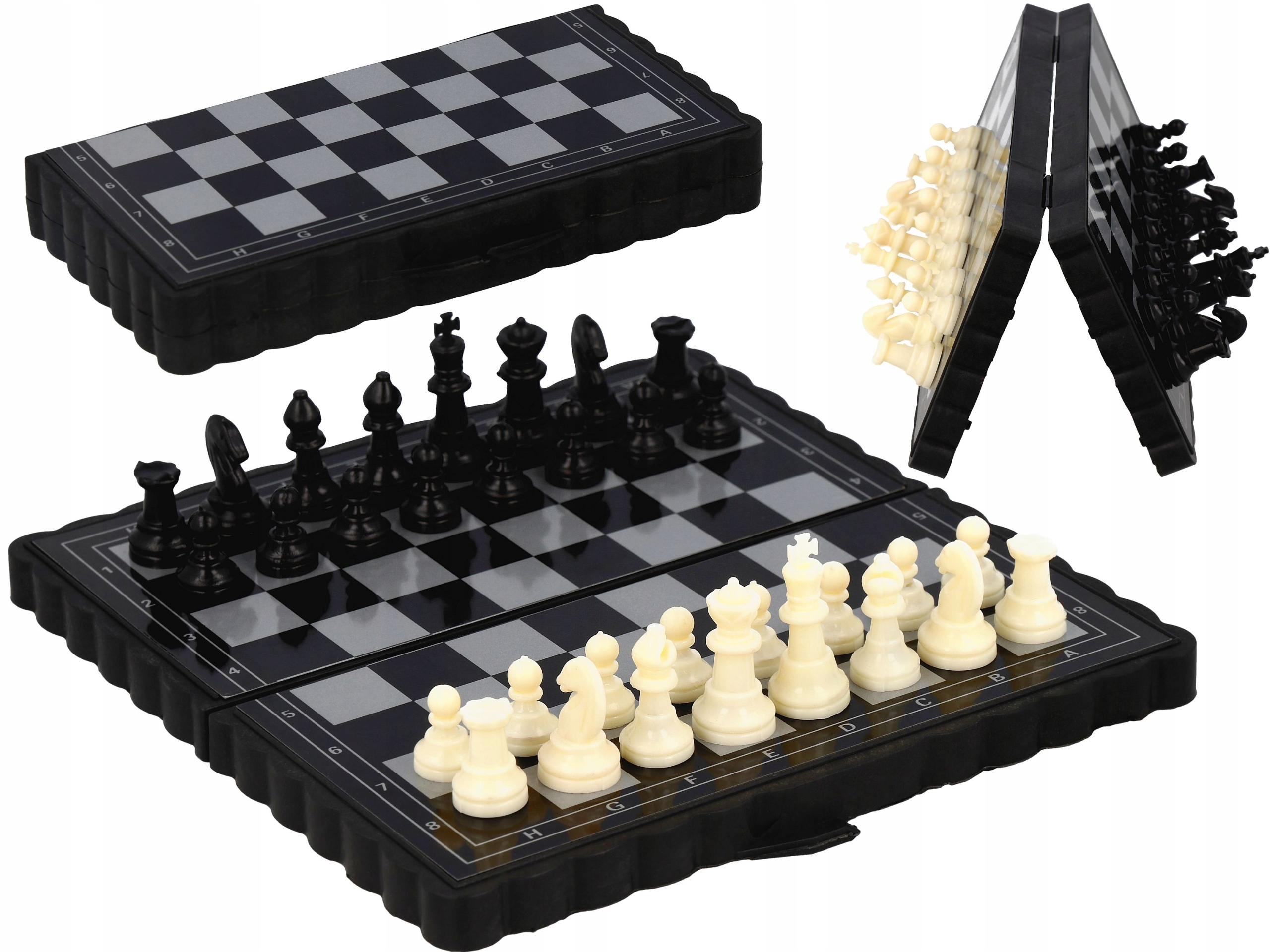 Item MINI CHESS MAGNETIC CHECKERS TRAVEL GIFT
