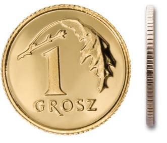 1 мятная монета грош 1999 г. в мешочке
