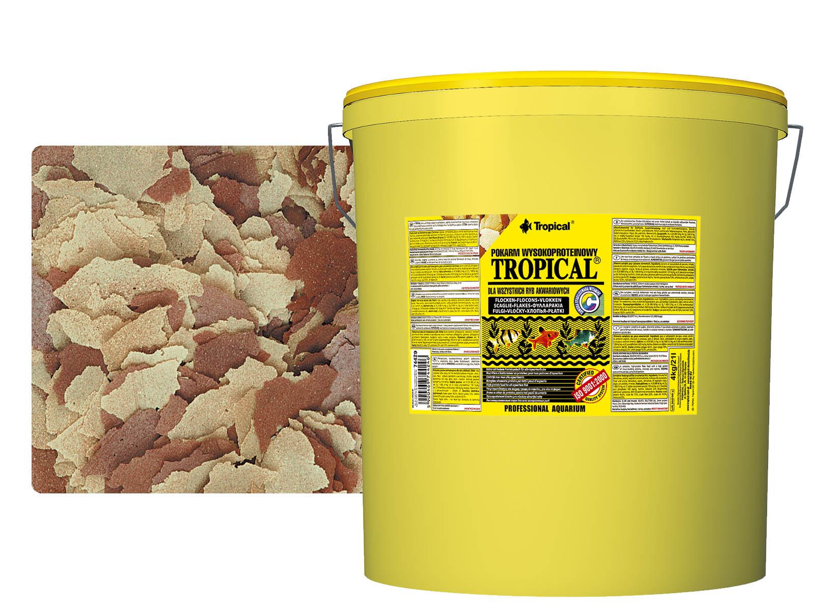 TROPICKÉ HIGH-PROTEÍN 21L / 4 kg krmivo pre RYBY
