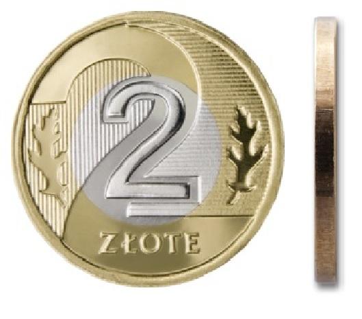 2 zł złote 2010 mennicza mennicze