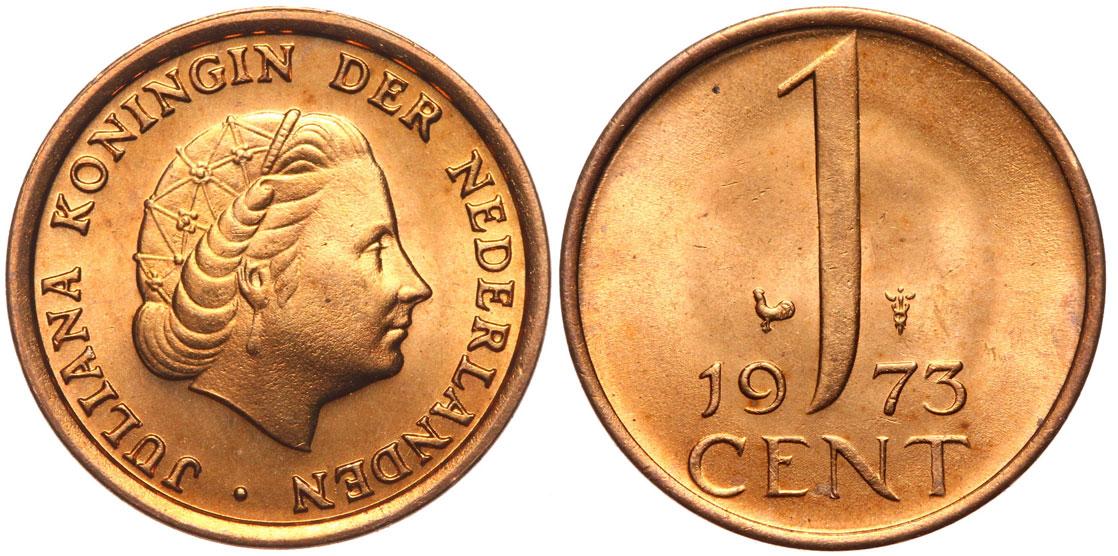 Holandsko - mince - 1 cent 1973 - Mennicza - UNC
