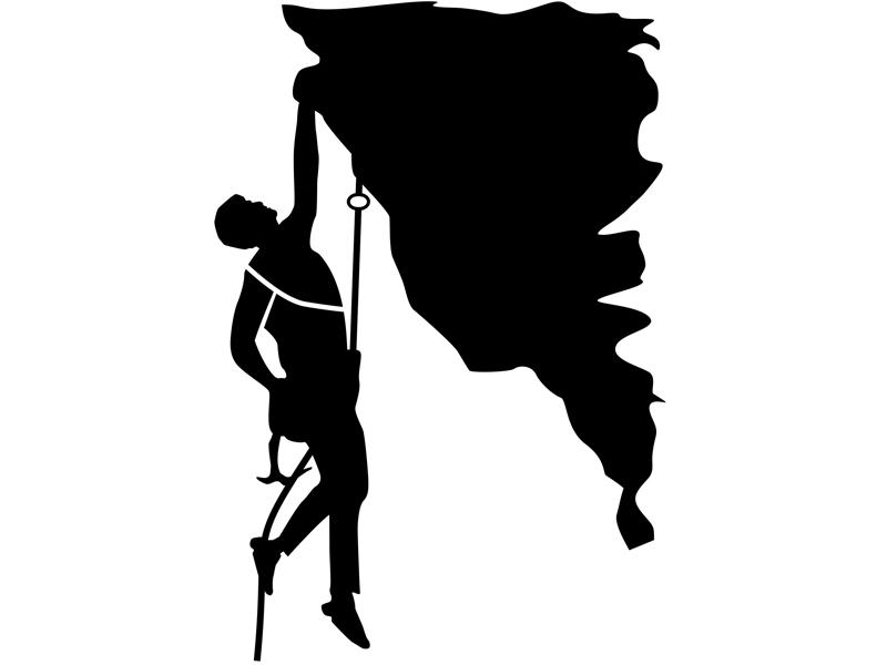 черно белые картинки скалолазание жена