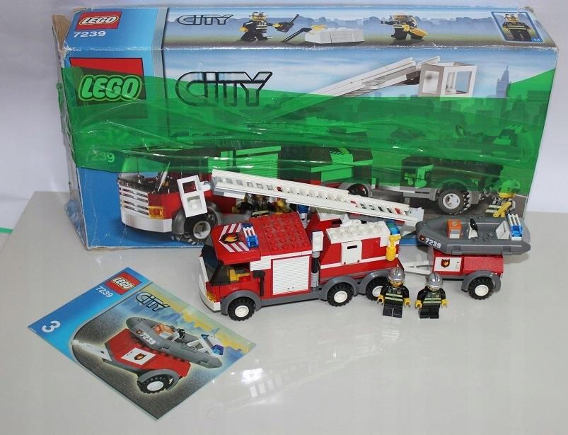 Lego City Straż Pożarna 7239 Wóz Straży Okazja 7460361156