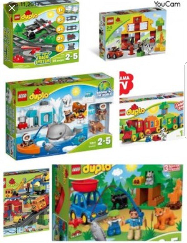 11 Zestawów Lego Duplo Instrukcje Kartony Pociąg 7147314285