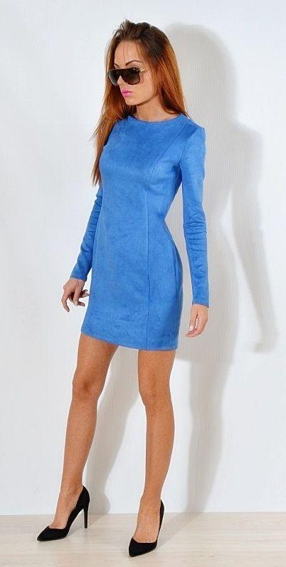 1da211d386 WIOSNA FORSETI Sukienka chaber zamszowa 36 S - 7130330899 ...