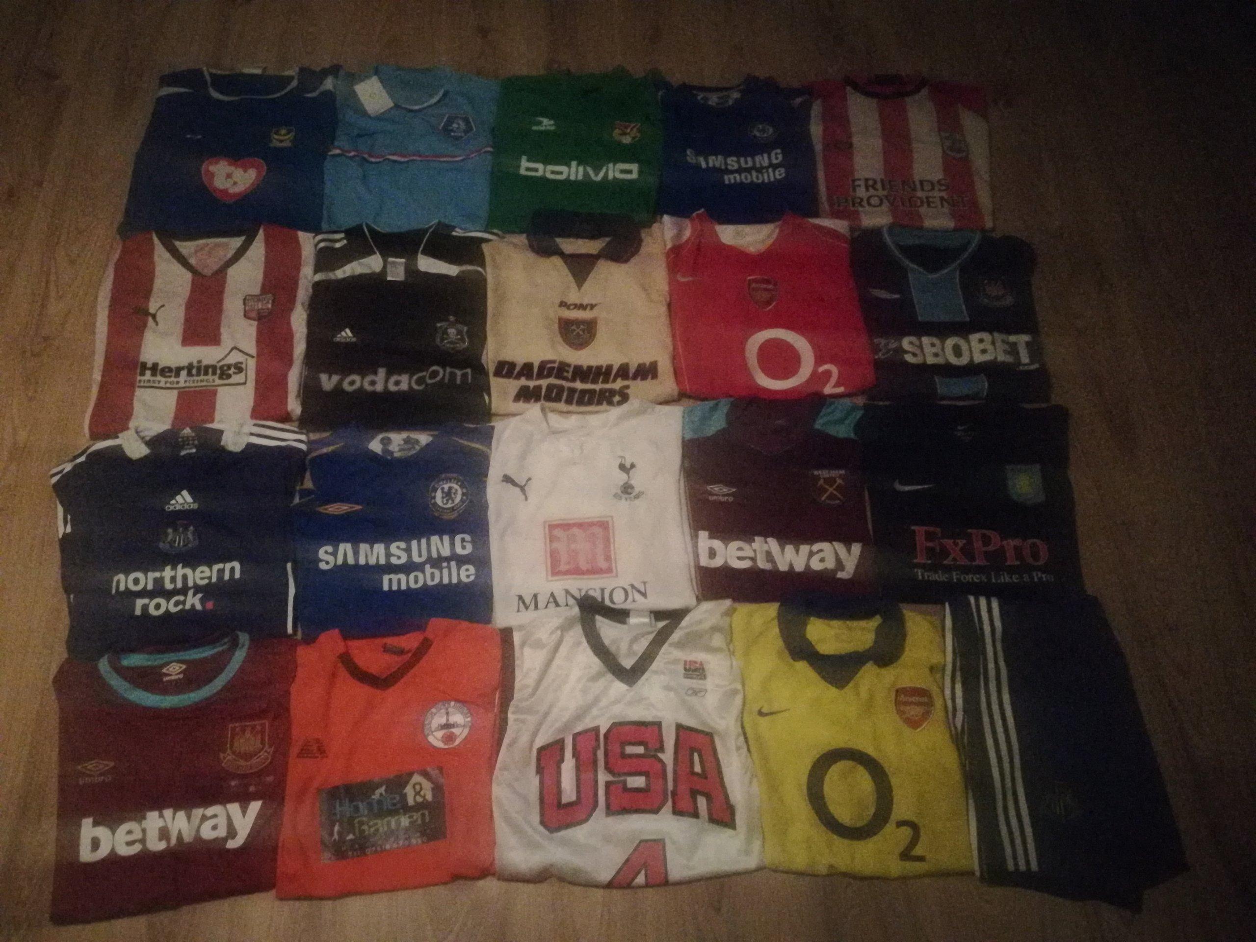 dd611cd2b Koszulki piłkarskie klubowe West Ham Arsenal!!! - 7353383269 ...