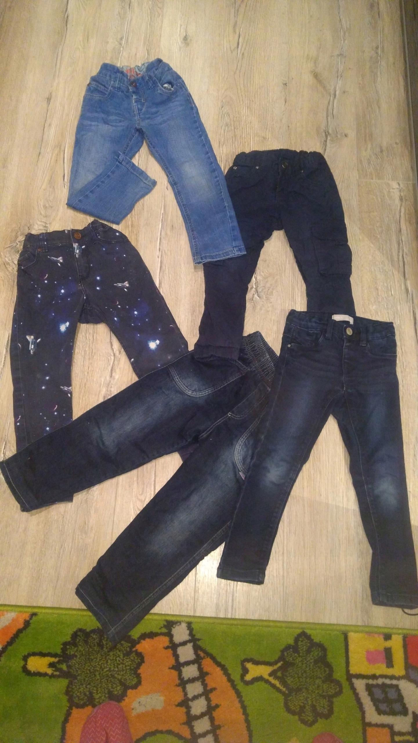 Spodnie jeansy 98-104 5 szt. H&M Zara