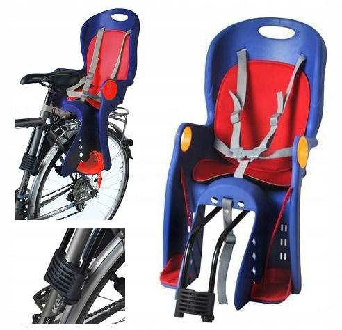 21e9729996080c Fotel na rower FOTELIK rowerowy do 22 kg NIEBIESKI - 7536445680 ...
