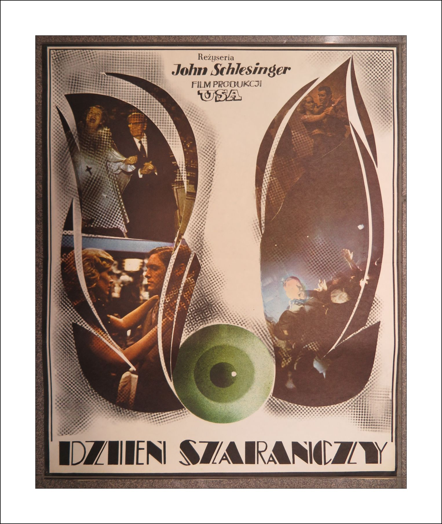 Stary Plakat Filmowe Dzień Szarańczy