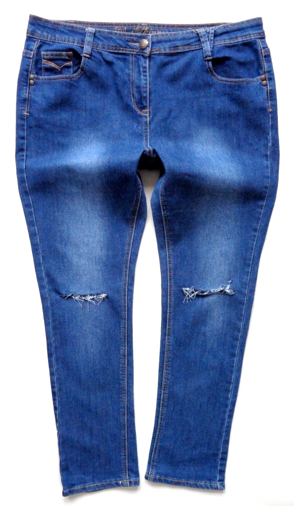 TU jeansy rurki SKINNY przetarcia dziury 4648 7158426818