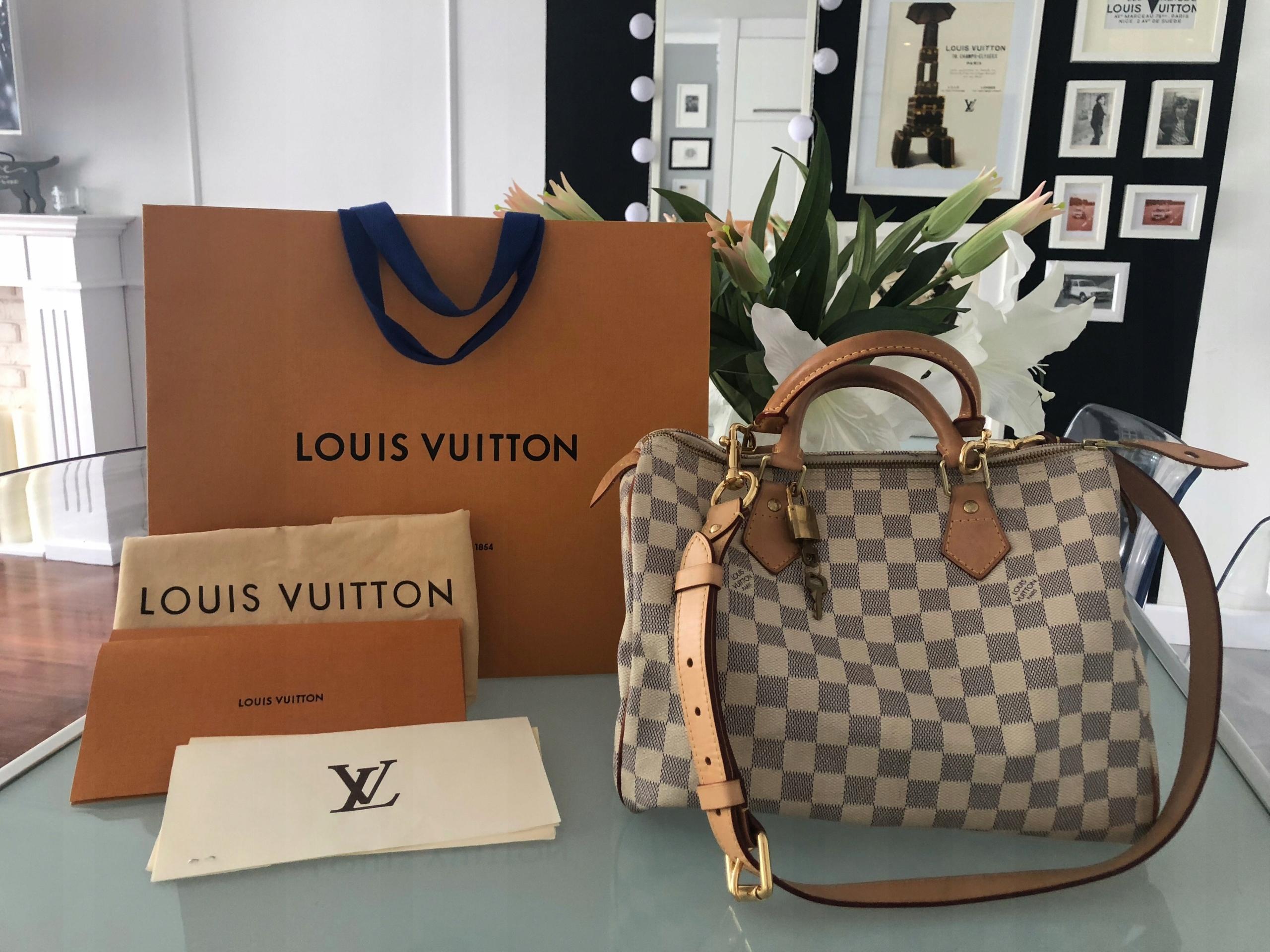 a83280afacd5e Louis Vuitton Speedy 30 Damier Azur ORYGINAŁ - 7515422889 ...