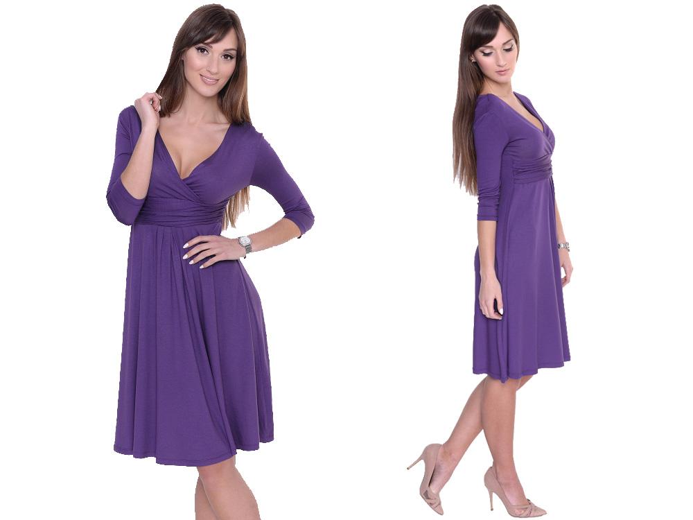 40d7103397 Sukienka Dla Przyszłych Mam Fiol 14400 2XL 3XL - 7140386284 ...