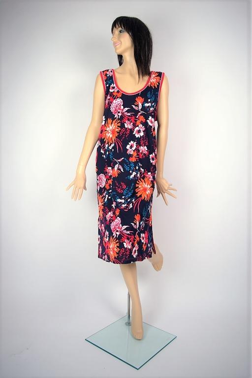 5a7db2f63b Sukienka Plażowa Podomka Bwłn. PIWONIE I ASTRY 1XL - 7394231399 ...