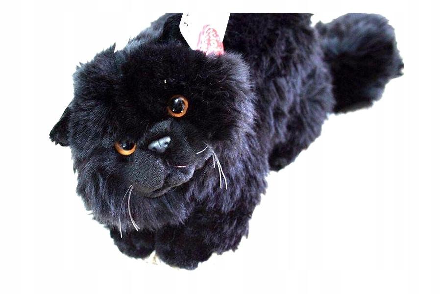 Maskotka Kot Perski Kotek Czarny Leżący 30cm Roxi 7465619304