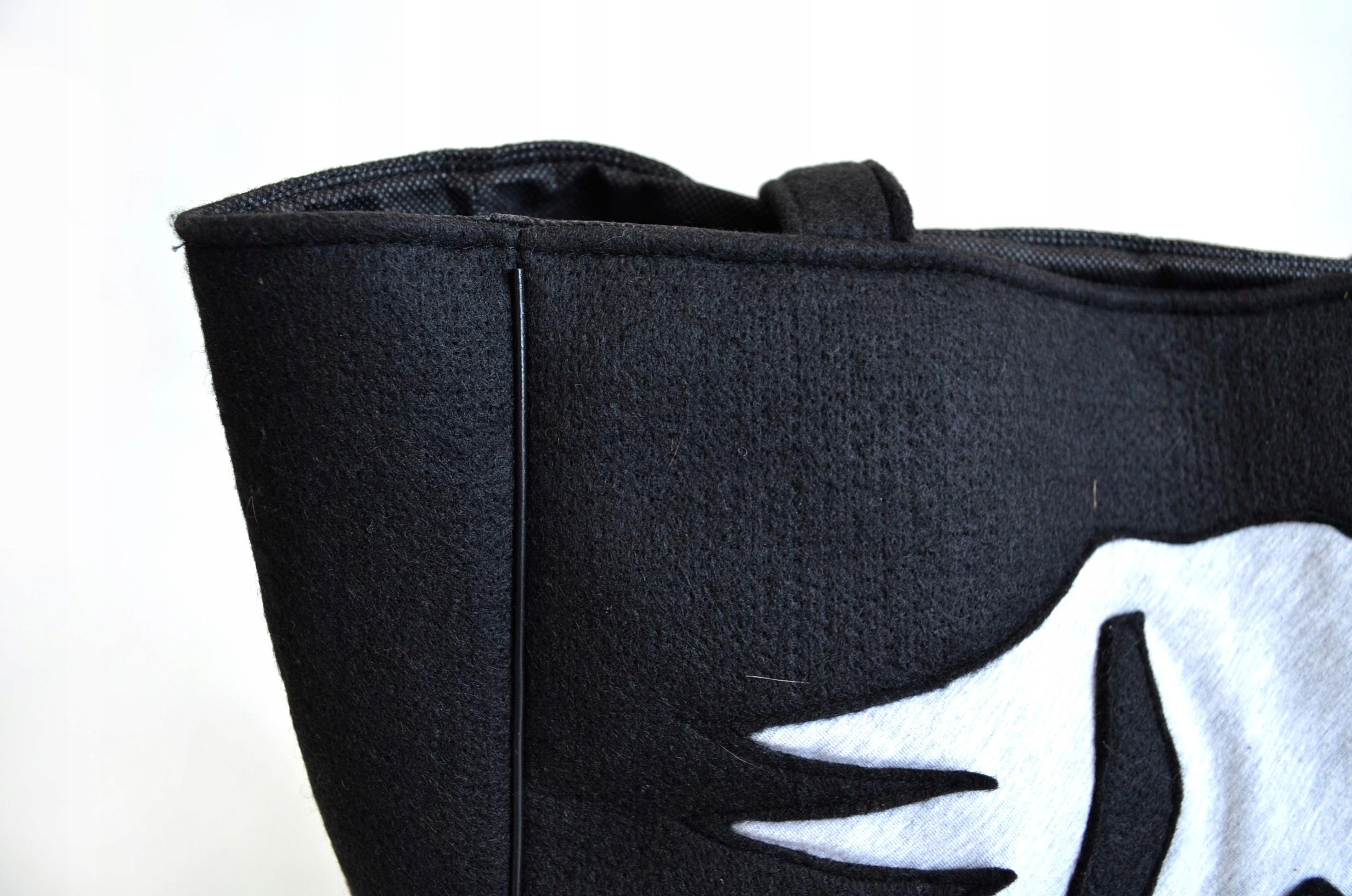 cbed40cef12d8 Duża czarna filcowa torba SHOPPER na ramię boho - 7303174448 ...