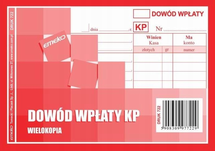 DRUK KP __ KASA PRZYJMIE __ A6