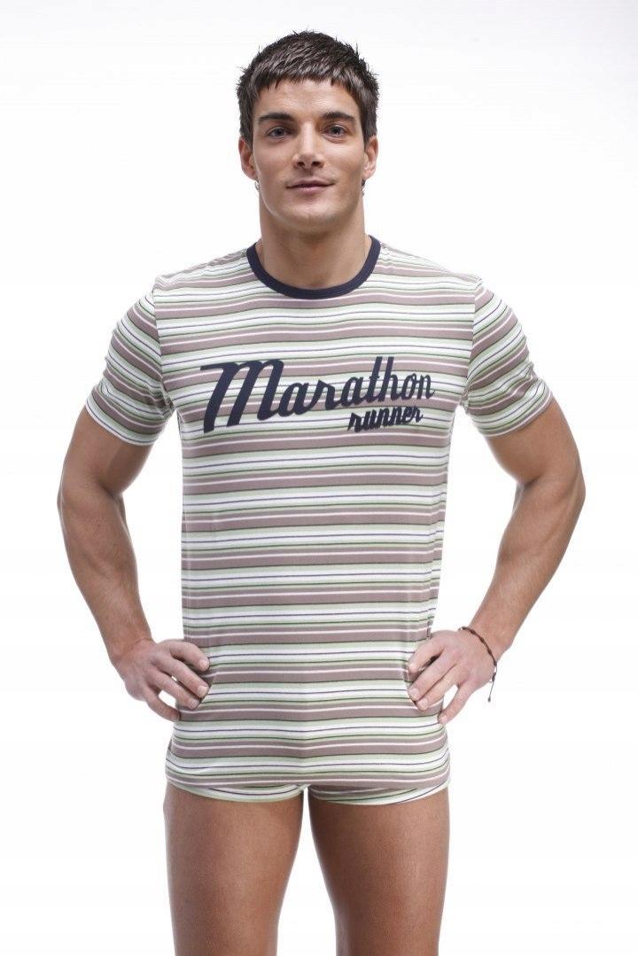 T-shirt Model Kiner 20844 Grey/Turkus