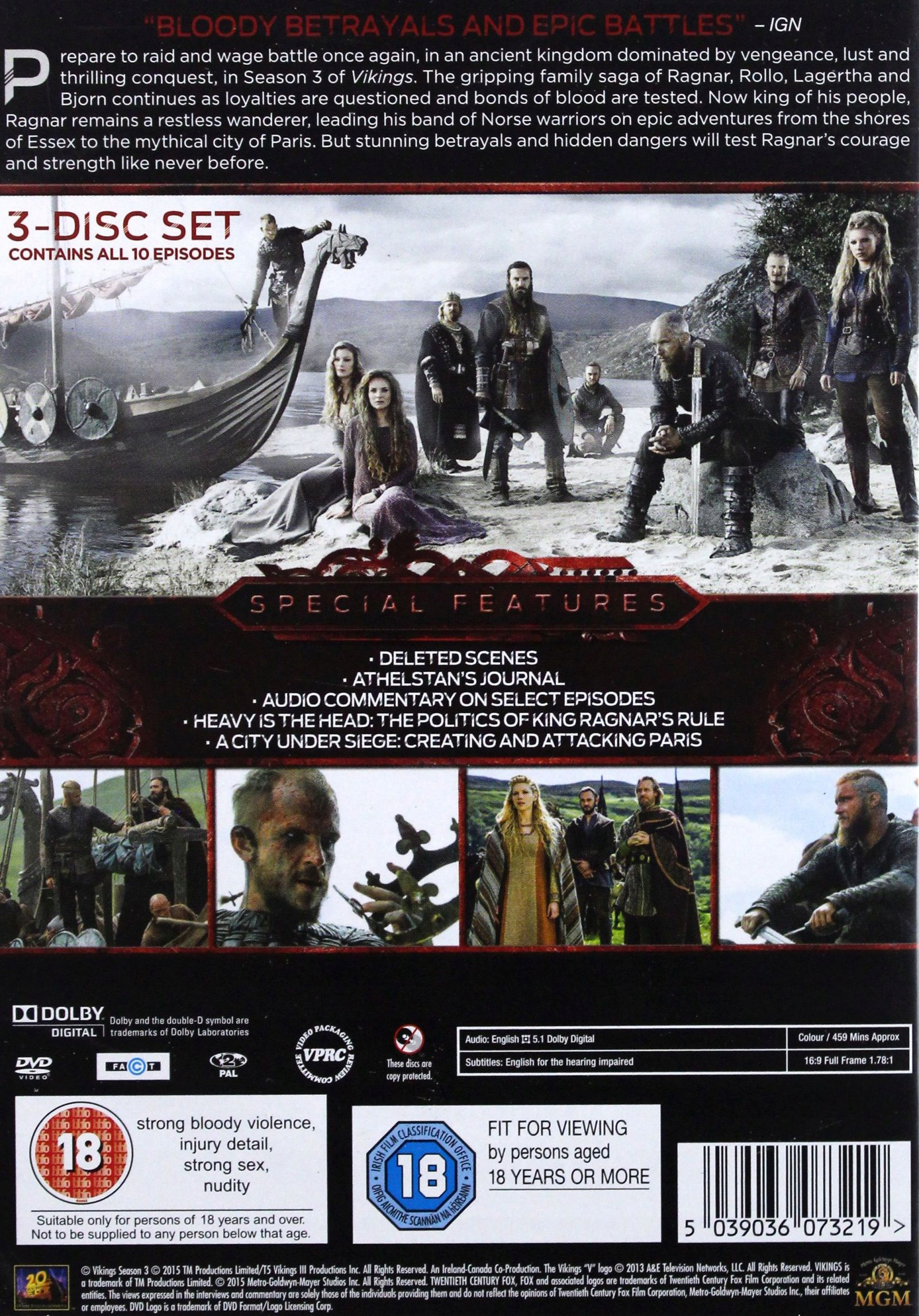 VIKINGS: SEASON 3 [DVD] - 7645128144 - oficjalne archiwum