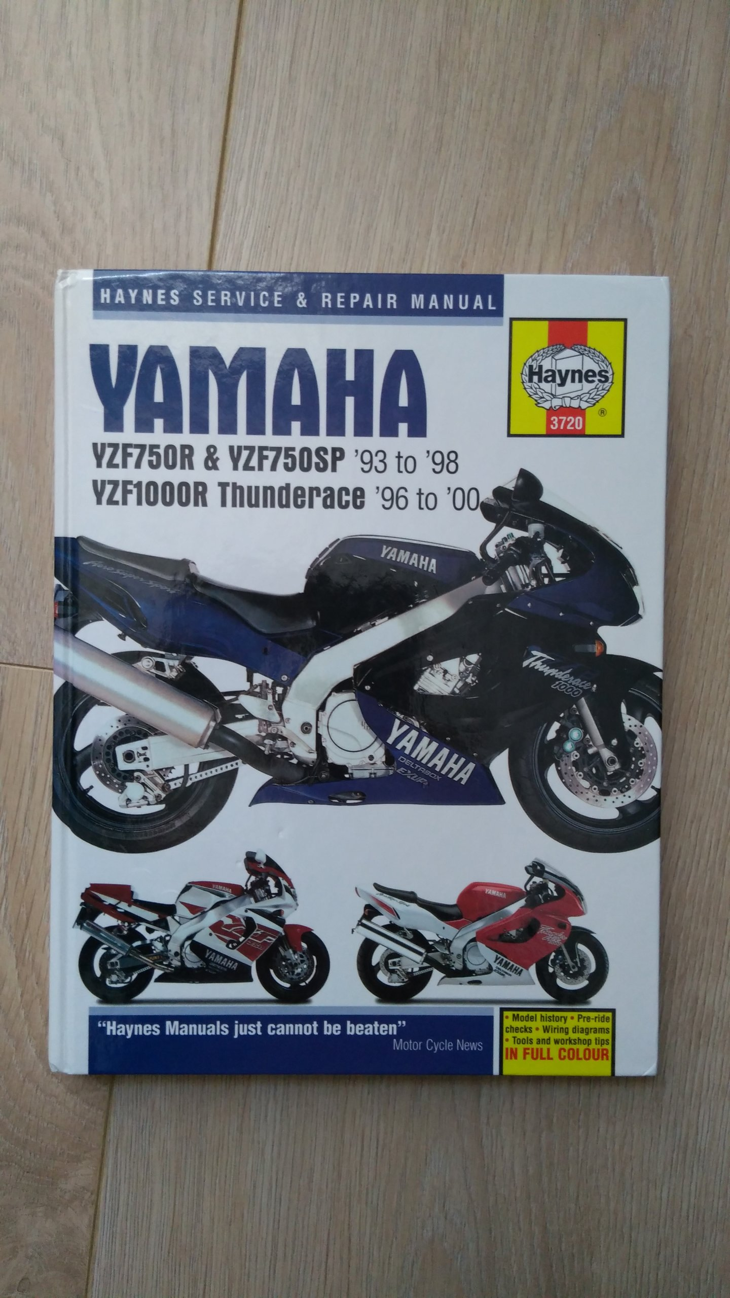 haynes yzf750r, yzf750sp i yzf1000r thunderace
