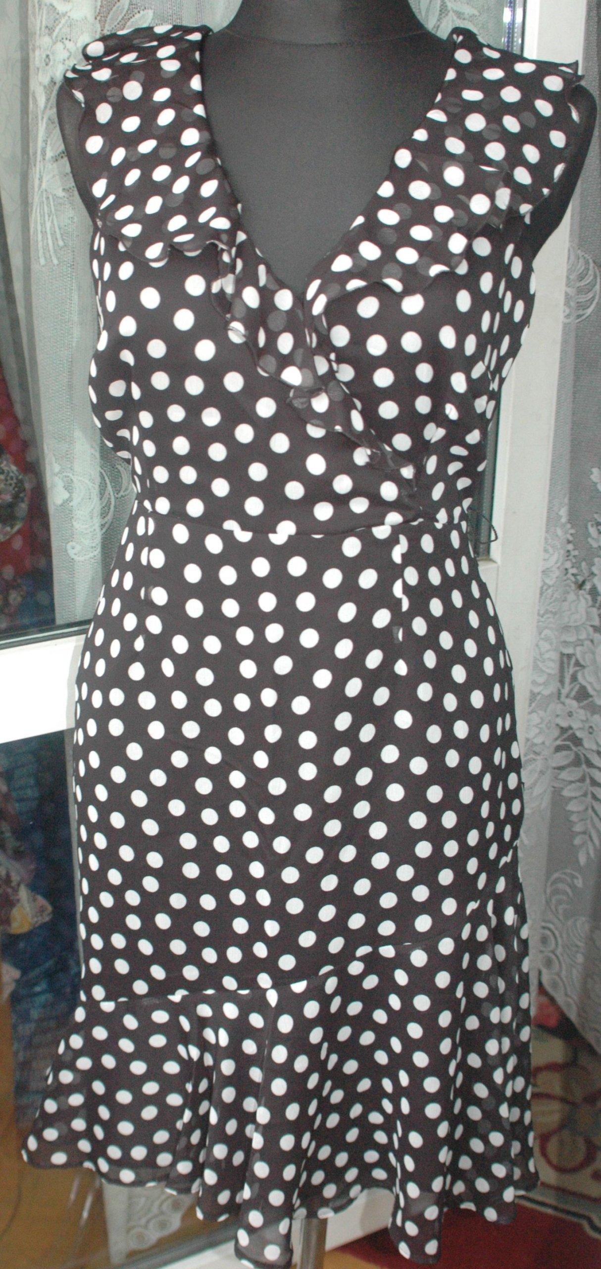 2c3a131744 F E sliczna sukienka w groszki r 40 42 grati - 7356833817 ...