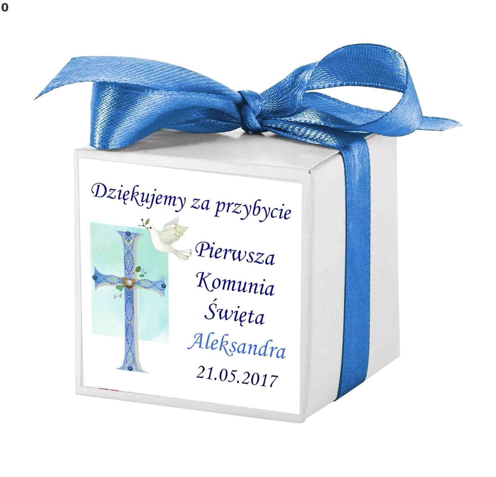 9af9cd4ddc9a Podziękowania dla gości pudełeczka Komunia chrzest - 7191649848 ...
