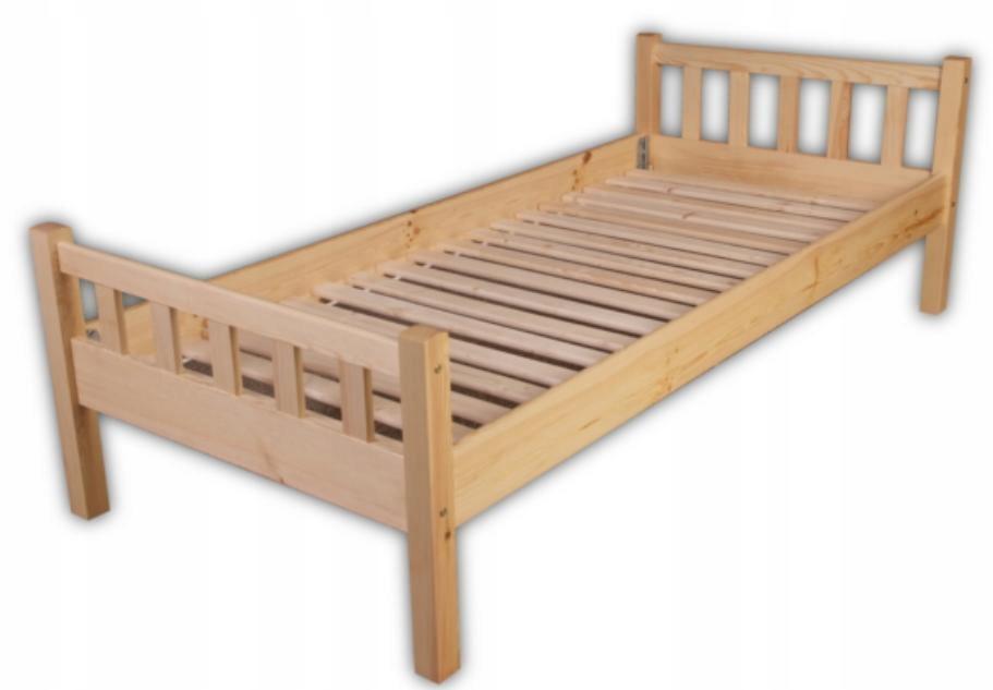 Tanie łóżko 78 Pod Materac 120x200 Drewniane Sosna