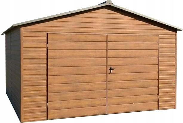 Garaż Blaszany Drewnopodobny Imitacja Drewna 7483520678
