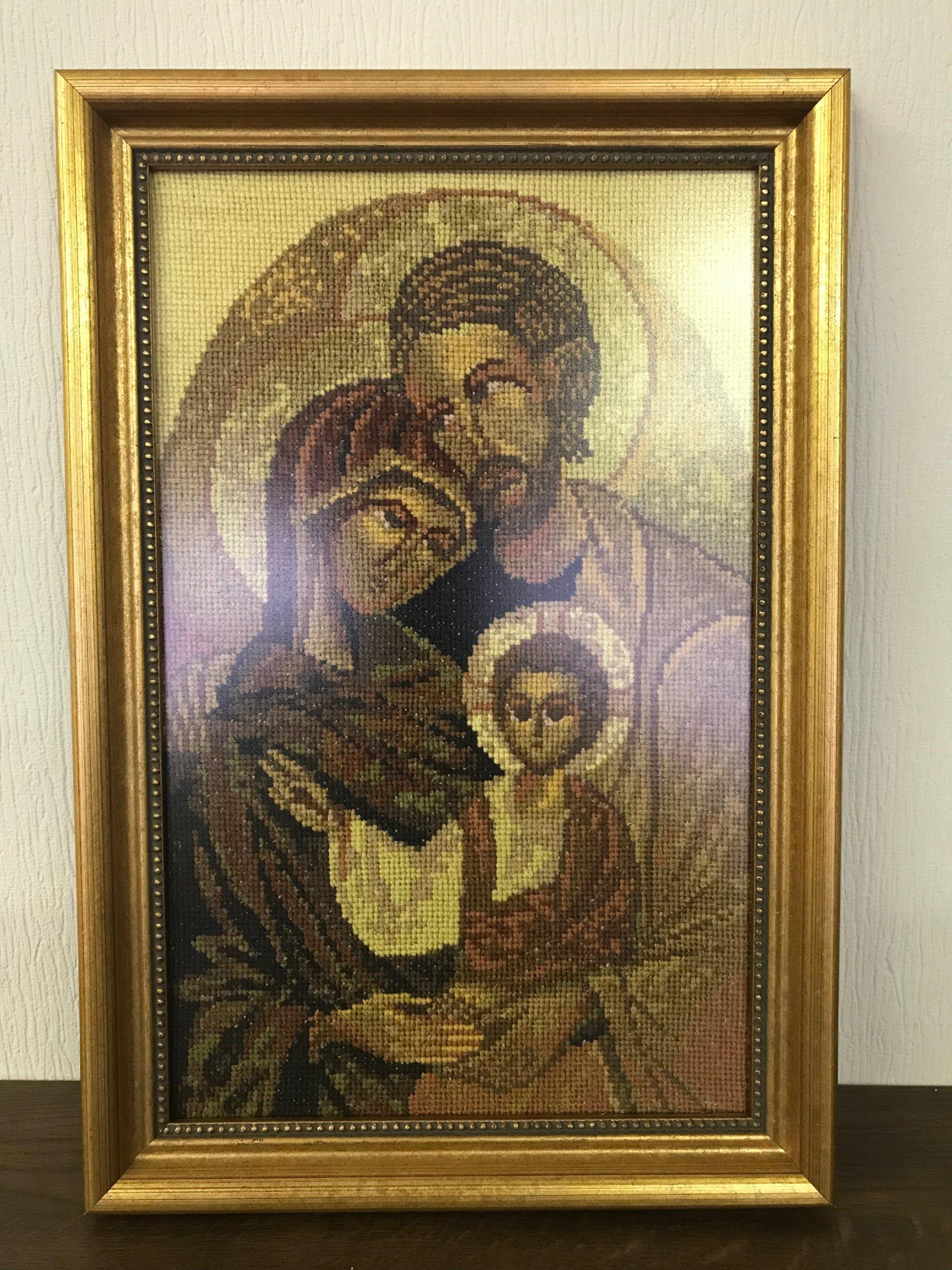Ikona święta Rodzina Haft Krzyżykowy 7393691970 Oficjalne