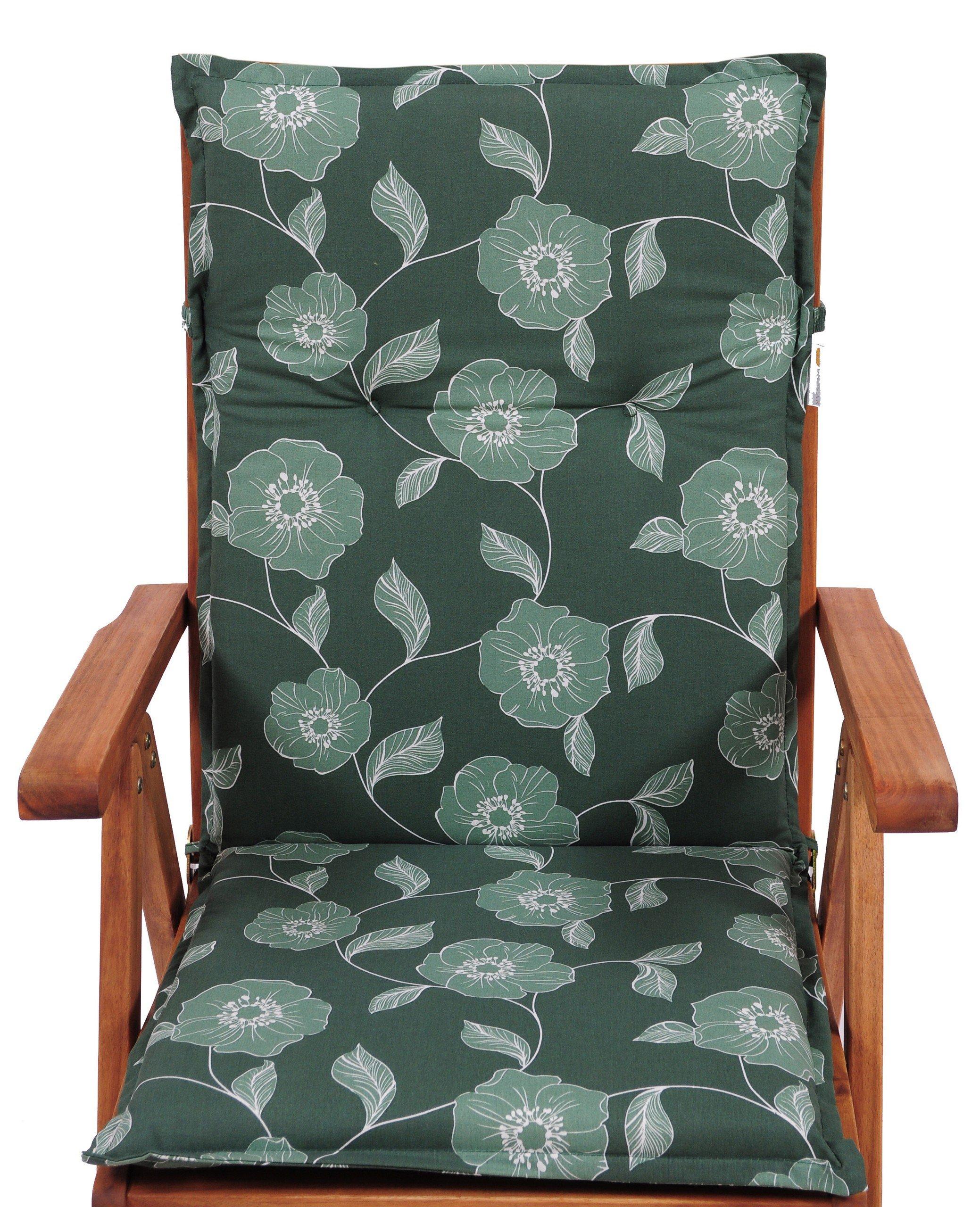 Poduszka W Kwiaty Na Krzesło Ogrodowe 110x50 B508