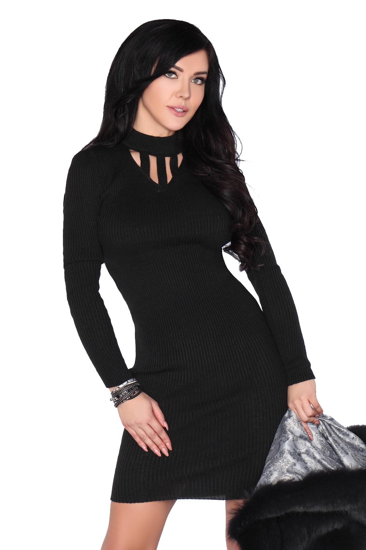 fe3e02ed71 Ciepła Sukienka z długim rękawem z wiskozy uniwers - 7217352100 ...