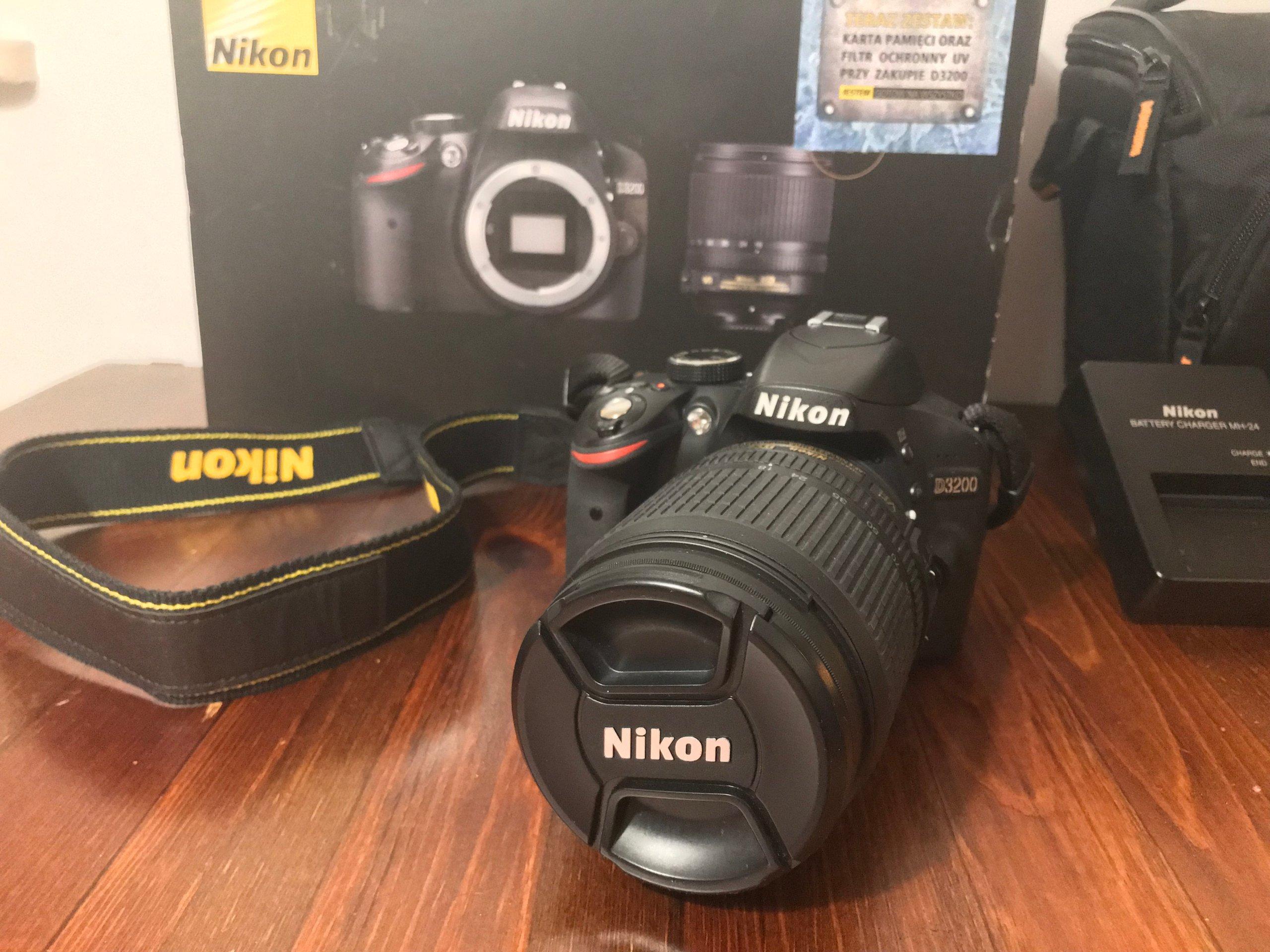 Zupełnie nowe Zestaw Nikon D3200 obiektyw 18-105 VR + akcesoria - 7158747509 TZ05
