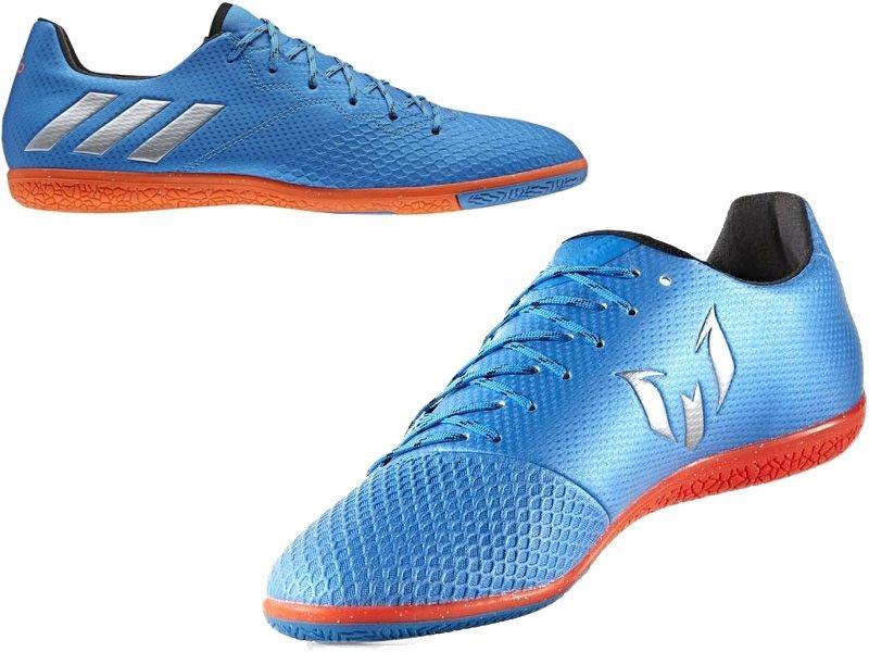 Buty piłkarskie halowe Messi 16.3 IN Adidas (niebiesko czerwone)
