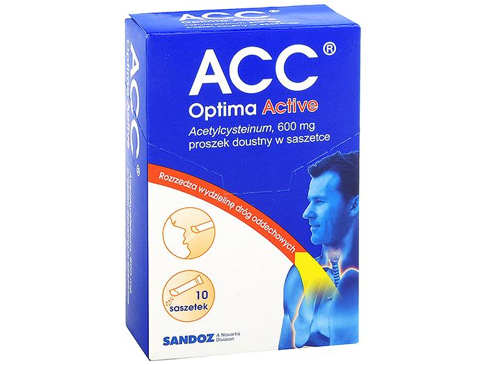 AP ACC Optima Active 600mg kaszel 10 saszetek