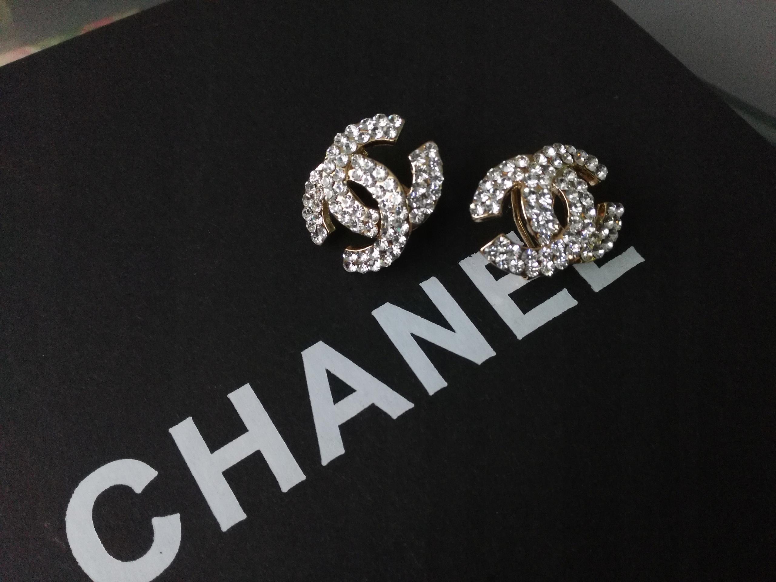 ffebab54eb623 Kolczyki złote Chanel prezent cyrkonie - 7727043632 - oficjalne ...