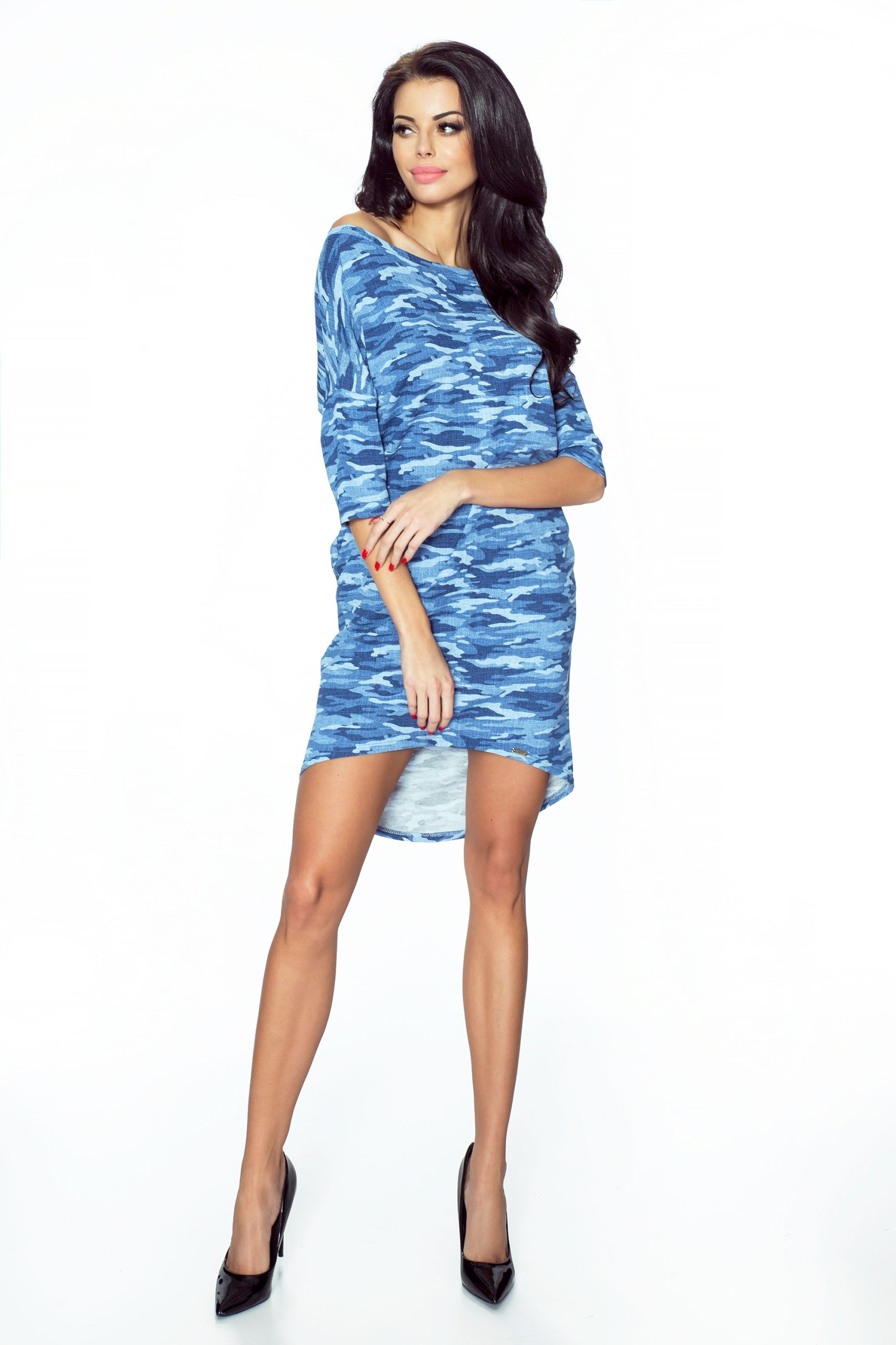 25089831 Sukienka MORO Codzienna Niebieska POLSKI PRODUCENT - 7350523713 ...