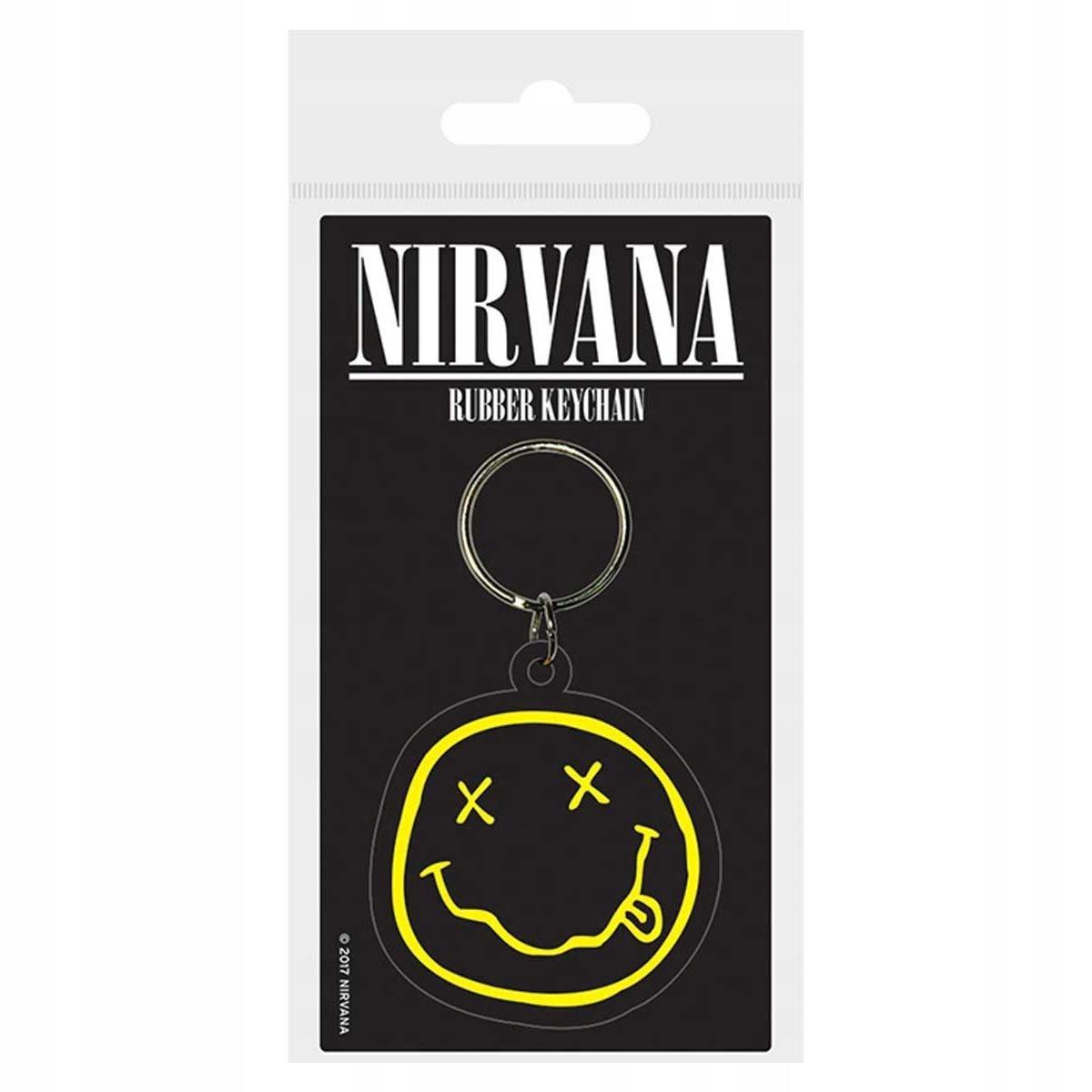 Brelok gumowy do kluczy Nirvana