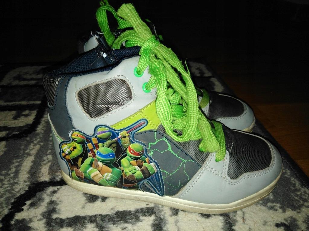 7919f76c7d92b wysokie jesienne chłopięce buty r. 32 żółwie Ninja - 7636241371 ...