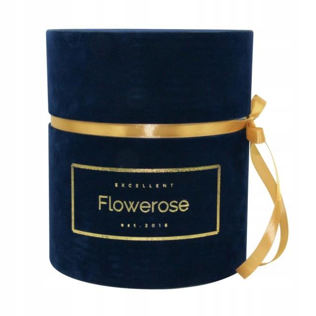 6b2b0f183c9cc6 Niebieskie wieczne róże granatowy box VELVET L - 7536617969 ...