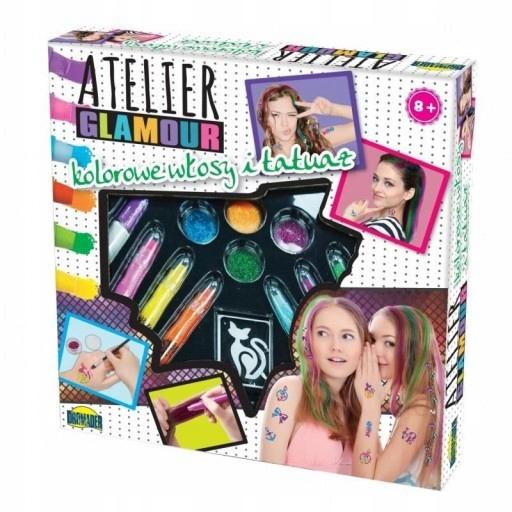 Atelier Glamour Kolorowe Włosy I Tatuaże Zestaw 7166182849