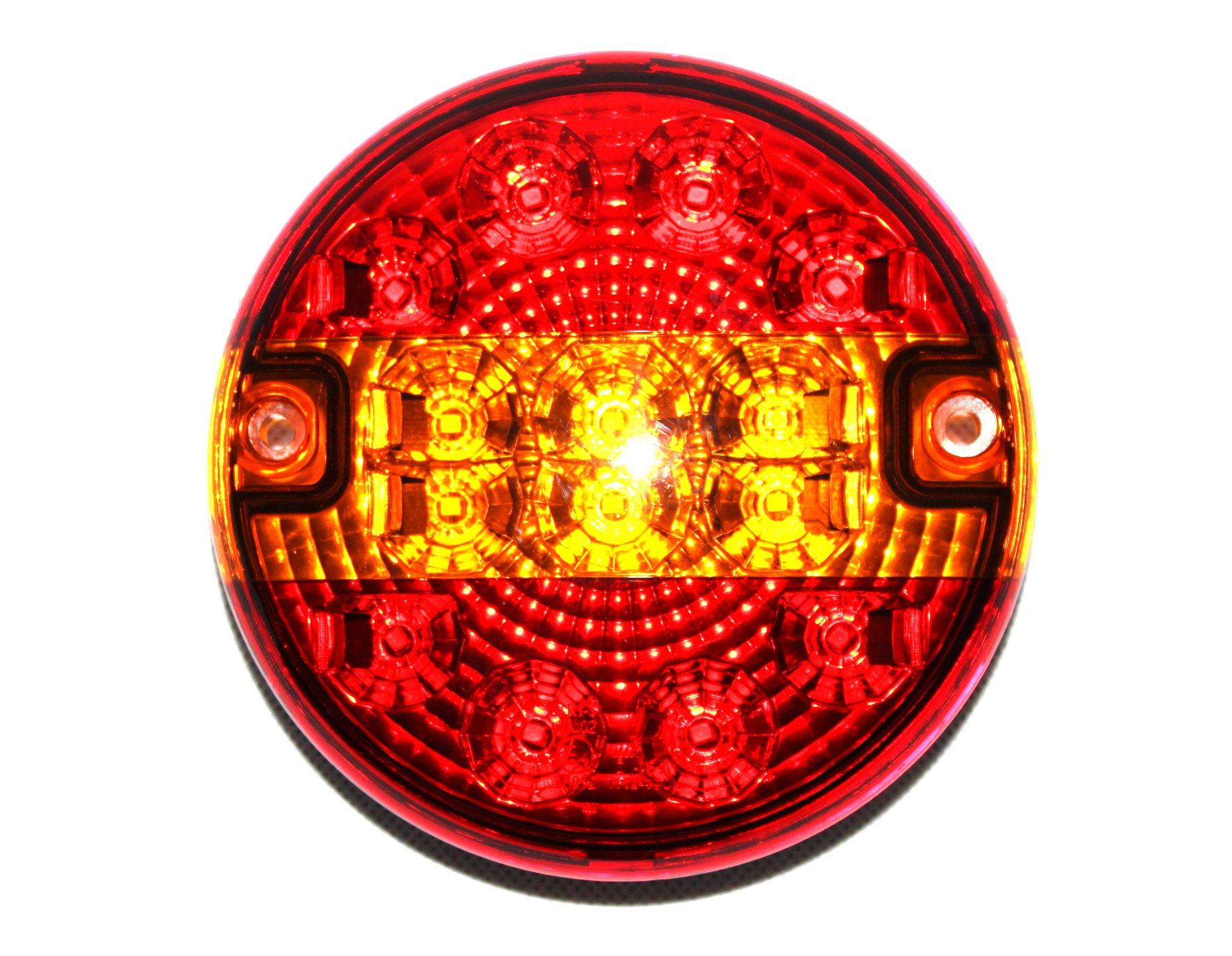 LAMPA TYLNA ZESPOLONA LED HAMBURGER 12V24 CE HOMOL